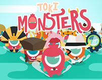 Toki Monsters - character and concept design