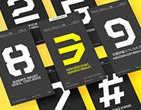 Jelion Stencil Typeface