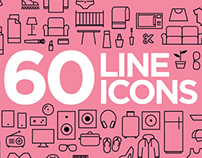 60 FREE fresh line icons in vector