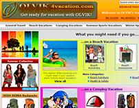 Website Design - OLVIK 4 Vacation