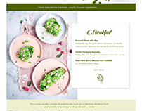 Sennav Vegan Web UI/UX Organic. Vegeterian.Foods