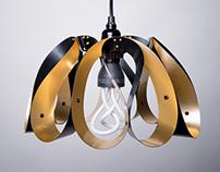 NEW : Droplet pendant light - Brushed Brass / Black