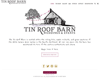 Tin Roof Barn, Weddings & Events Venue, website design