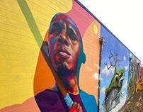 """On a Path Less Traveled"" Street Art Mural"