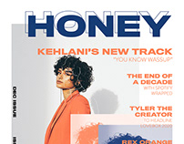 """""""HONEY"""" Magazine Cover and Table of Contents"""