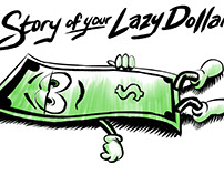Lazy Dollar Illustrations