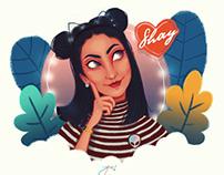 Shay character illustration
