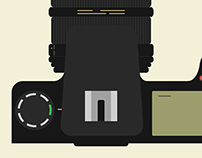 Flat DSLR Illustration