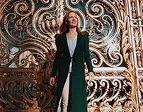 The emerald wool coat