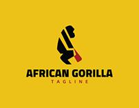 African Gorilla Logo