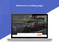Motornova landing page
