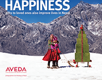 Aveda Holiday POP Posters and Microsite