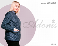 ADONIS-online store of Ukrainian women's clothing-UX/UI