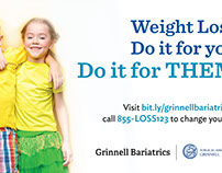 Grinnell Bariatrics Des Moines Skywalk Board Ads