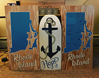 Hand painted RI signs.