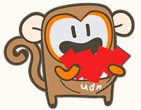 [ BD ] udn.com 猴年賀年logo