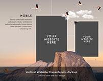 Vertical Website Presentation Mockup - FREE DOWNLOAD