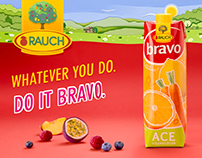TVC RAUCH - Bravo - paper animation