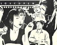 Concept illustratie Film canvas