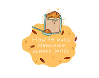 Illustrated almond butter recipe