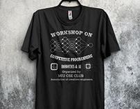 Workshop t-shirts design bundle with free mock-up