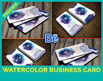"""Free Watercolor Splash Business Card"" - FREEBIE"