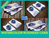 """Free Watercolor Splash Business Card"" - FREEBIE"