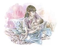 """Ilustração """"O dia em que nasce um filho"""""""