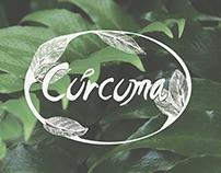 Curcuma Restaurante Vegetariano menu & branding