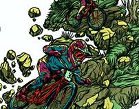 Apparel Illustration for Downhill Championship