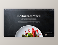 Restaurant Week - concept of a food festival website