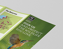 Membership leaflet for Lancashire Wildlife Trust