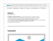 Wireframe da página de User Experience da Prisma Design