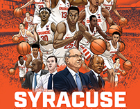 Syracuse Men's Basketball 2017-18 schedule poster art