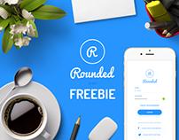 Rounded UI kit Freebie