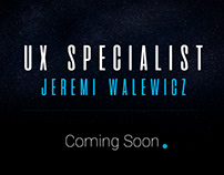 UX Specialist - coming soon