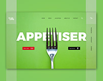 Food Love Restaurant Header- Sketch