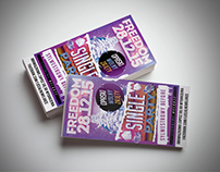 Party posters and entrance tickets