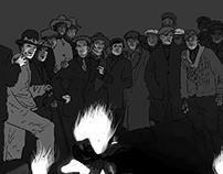 crowd at a lynching
