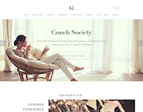 Website design for Conch Society