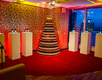 TYSKIE - christmas press conference scenography