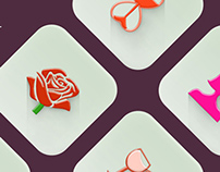 Free: Valentine's day icons