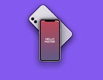 Animated iPhone 11 Hand Swipe Mockup