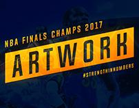 2017 NBA Finals Champs Artwork