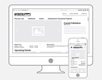 Intrepid Museum Website - Redesign (wireframes)