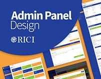 RICI Admin Panel Design 2018