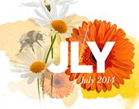Watercolour Calendar 2014