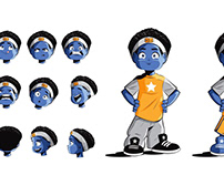 "CHARACTER DESIGN - ""Children's Book ""BALL BOY BLUE"""