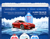 Snow design by landing page