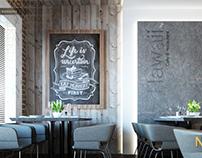 Hawaii Cafe interior design
